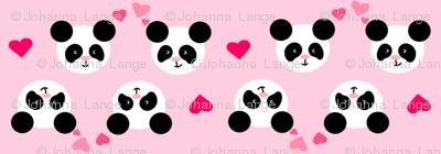 Panda Love Purple Small