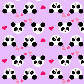 Panda Love Lilac Small