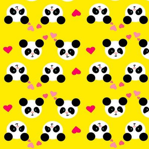 Panda Love Yellow Small