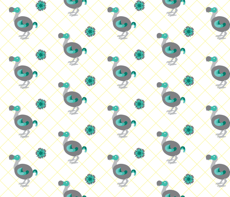 dodo fabric by thebon on Spoonflower - custom fabric
