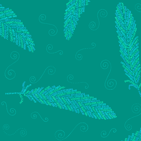 birds of a feather (jade) fabric by weavingmajor on Spoonflower - custom fabric