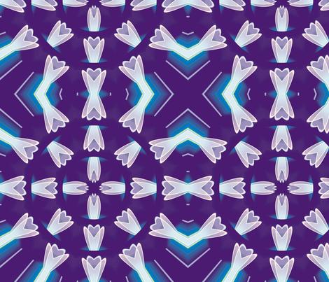 Crystal Flower Mandala 3, L fabric by animotaxis on Spoonflower - custom fabric