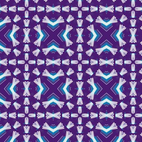 Crystal Flower Mandala 3, S fabric by animotaxis on Spoonflower - custom fabric