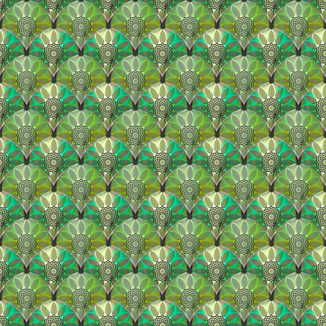Embossed Green floral fabric by joanmclemore on Spoonflower - custom fabric