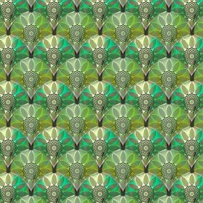 Embossed Green floral