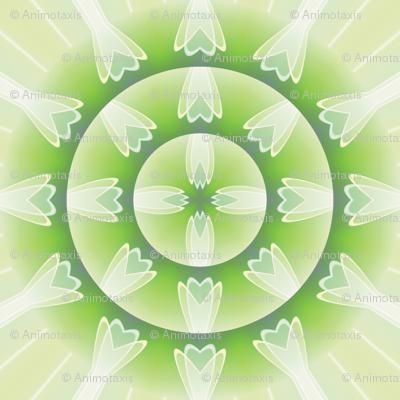 Crystal Flower Mandala 4, L