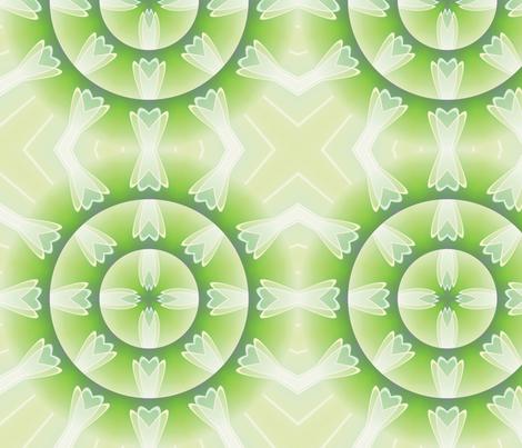 Crystal Flower Mandala 4, L fabric by animotaxis on Spoonflower - custom fabric
