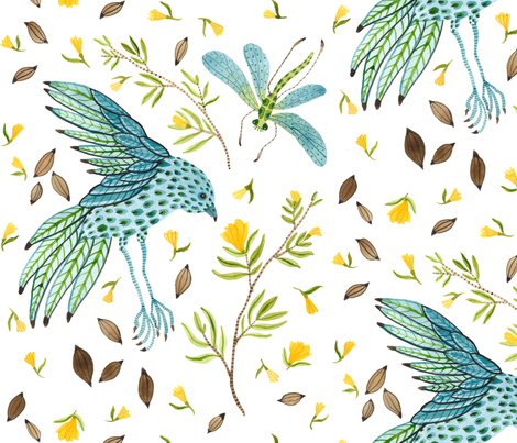 Grand Frolic - Frolic Collection fabric by gollybard on Spoonflower - custom fabric