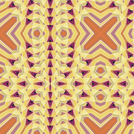 Crystal Florets 1, S fabric by animotaxis on Spoonflower - custom fabric