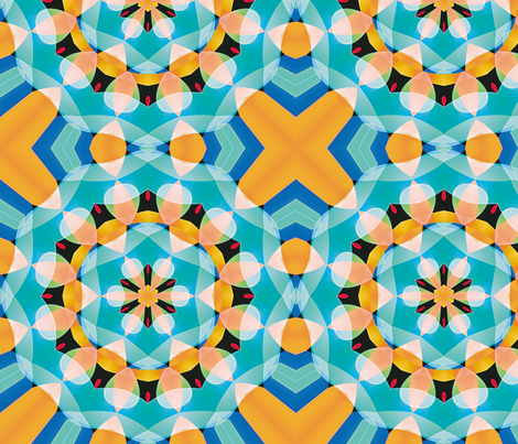 Crystal Kaleidoscope 2, L fabric by animotaxis on Spoonflower - custom fabric