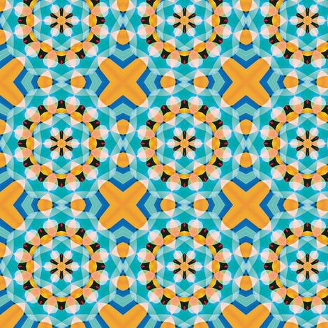 Crystal Kaleidoscope 2, S fabric by animotaxis on Spoonflower - custom fabric