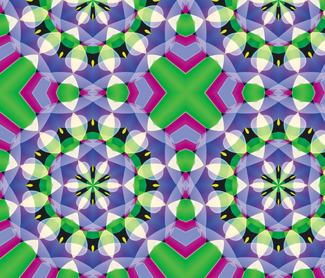Crystal Kaleidoscope 3, L fabric by animotaxis on Spoonflower - custom fabric