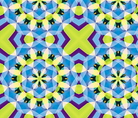 Blueberry And Lemon Pie fabric by animotaxis on Spoonflower - custom fabric