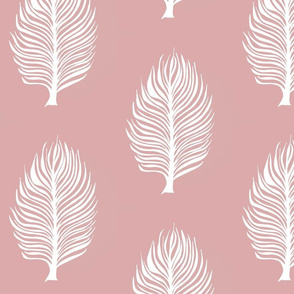 pink and white leaf