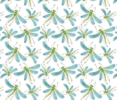 Dragonflies - Frolic Collection fabric by gollybard on Spoonflower - custom fabric