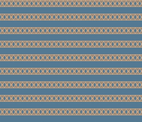 Blue with Wheat Color Frieze Stripe © Gingezel™ 2012 fabric by gingezel on Spoonflower - custom fabric