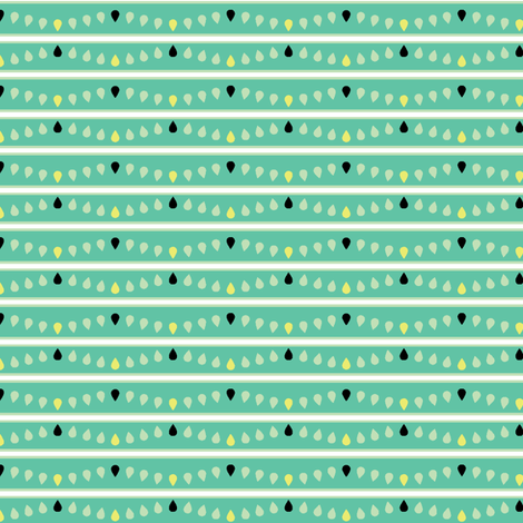 Blue Green Stripes fabric by ravenous on Spoonflower - custom fabric