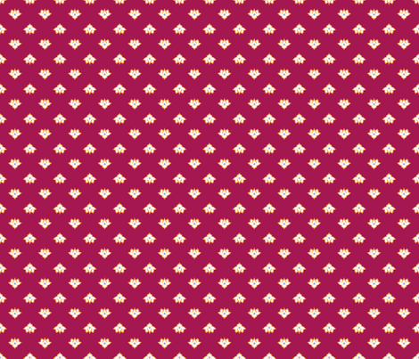 Dot Lotus Dark Pink BG fabric by thelazygiraffe on Spoonflower - custom fabric