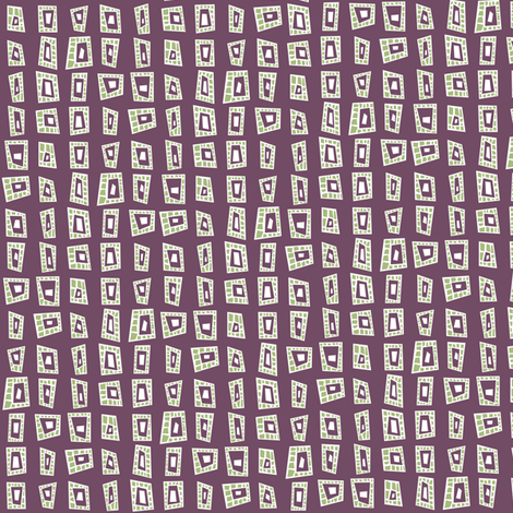 TrappedAZoided_Plum fabric by ghennah on Spoonflower - custom fabric