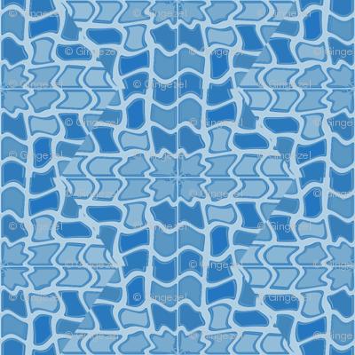 Blue Digital Mosaic © Gingezel™ 2012