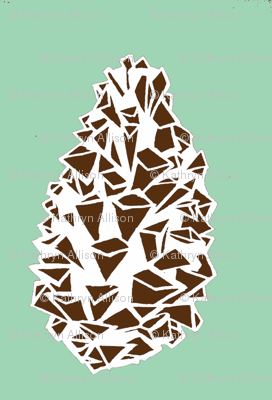 mint green pine cone