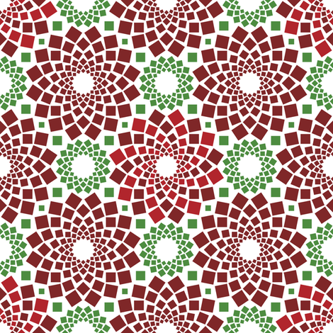 Kaleidoflowers (Poinsettias) fabric by robyriker on Spoonflower - custom fabric