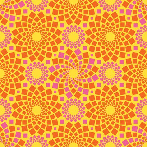 Kaleidoflowers (Sunshine) fabric by robyriker on Spoonflower - custom fabric