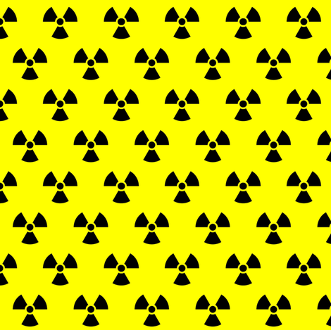 neon yellow radiation fabric by starlings_law on Spoonflower - custom fabric