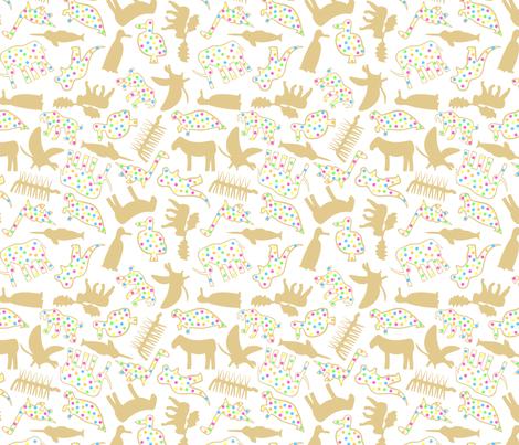 Extinct Animal Crackers fabric by modgeek on Spoonflower - custom fabric