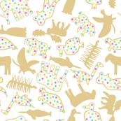 Extinct Animal Crackers Ditsy