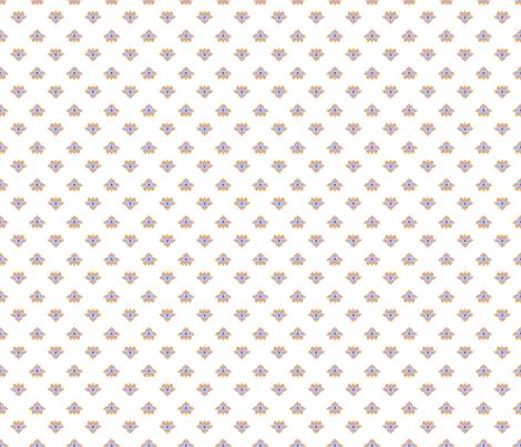 Dot Lotus White BG fabric by thelazygiraffe on Spoonflower - custom fabric