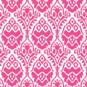 Pink and White Ikat