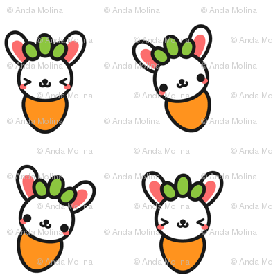Carrot Bunny SMALL