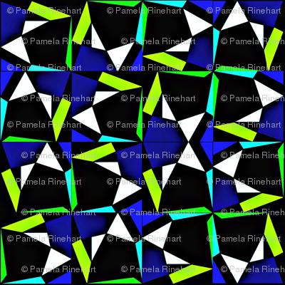 modern tumble blue green