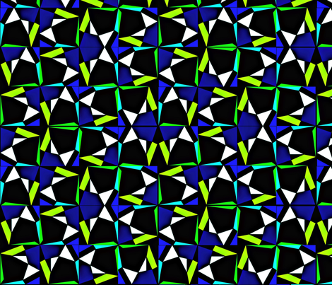 modern tumble blue green fabric by glimmericks on Spoonflower - custom fabric