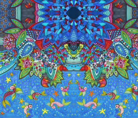 Arrecife de coral fabric by lita_blanc on Spoonflower - custom fabric