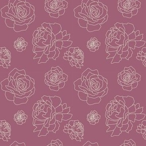 Roses and Peonies: Raspberry