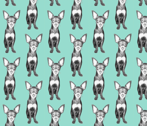 Roo in repeat fabric by littlerhodydesign on Spoonflower - custom fabric