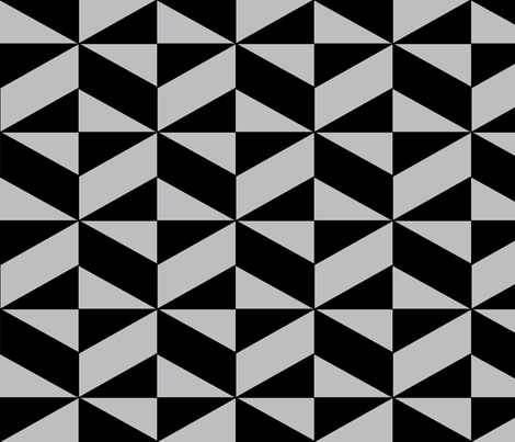 Grey Block Illusion fabric by sterlingrun on Spoonflower - custom fabric