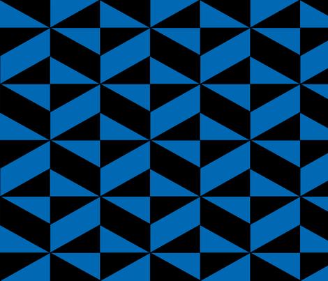 Blue Block Illusion fabric by sterlingrun on Spoonflower - custom fabric