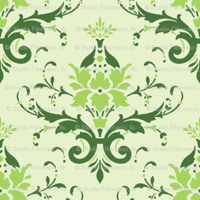 Victorian Flourish (green)
