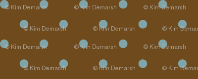 Muted Blue Dots On Brown