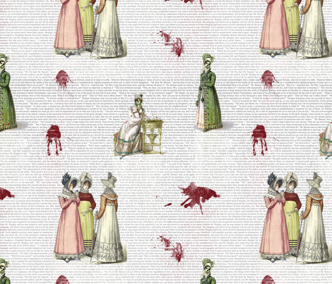 More Pride & Prejudice - Zombified! fabric by studiofibonacci on Spoonflower - custom fabric