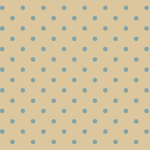 Muted Blue Dots on Tan