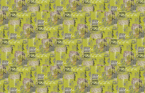 Octopus Garden Green fabric by lulabelle on Spoonflower - custom fabric