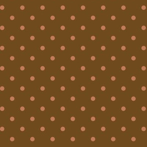 Clay Dots on Brown