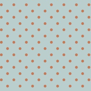 Clay Dots on Light Blue
