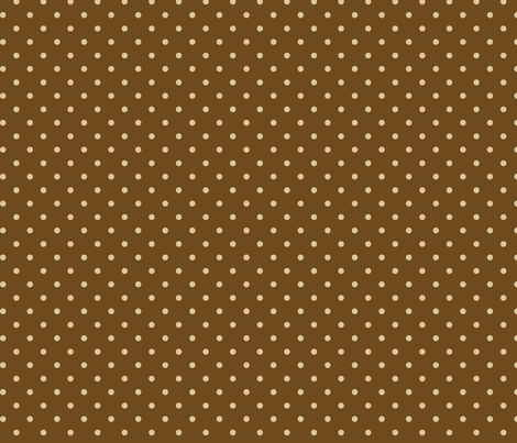 Tan Dots on Brown Natural  fabric by stitchwerxdesigns on Spoonflower - custom fabric