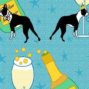 Happy New Year Boston Terriers