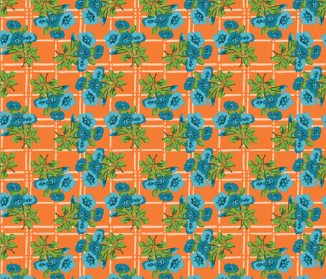 plaid-bouquets fabric by danab78 on Spoonflower - custom fabric